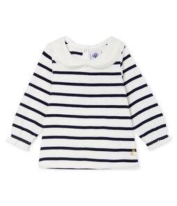 Langärmelige Baby-Bluse für Mädchen mit Streifen