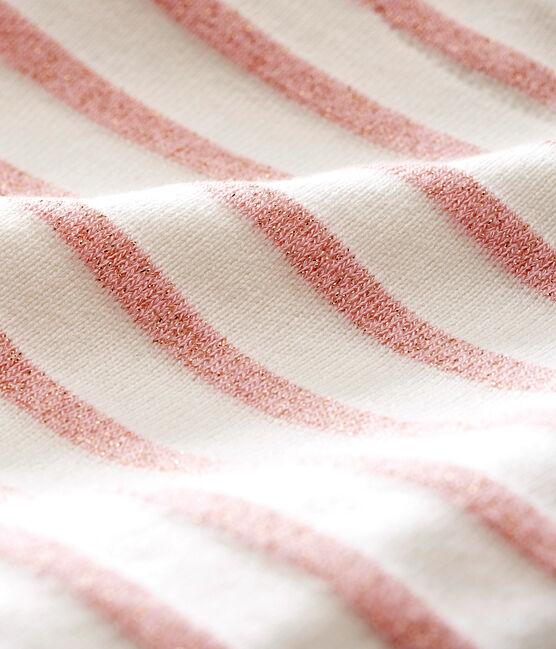 Glitzerndes Baby MädchenBodykleid weiss Marshmallow / rosa Joli Brillant