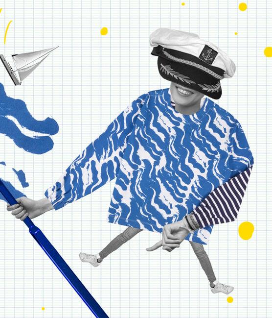 Matrosenshirt in einer Hyères-Neuauflage für Damen weiss Ecume / blau Bleu