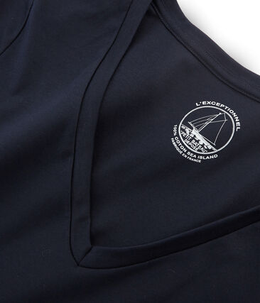 Langärmeliges damen-t-shirt sea island aus baumwolle