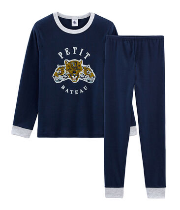 Rippstrick-Pyjama für kleine Jungen