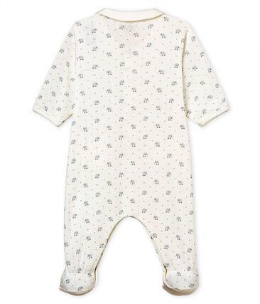 Gemusterter baby-strampler jungen 1x1-gerippt