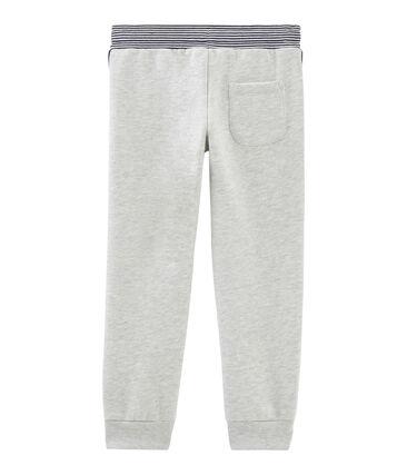 Molton-Hose für Jungen grau Beluga