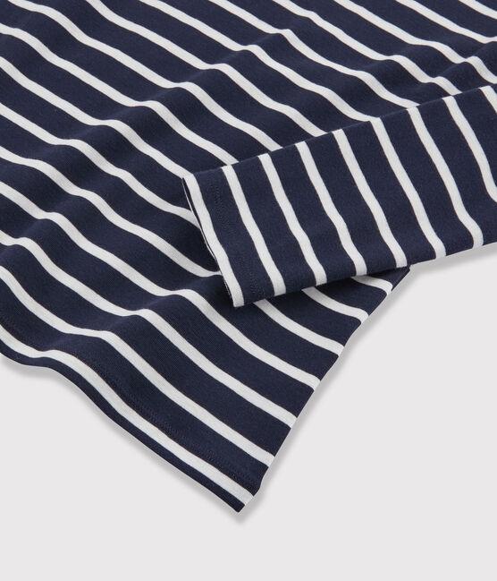 Unterziehpullover für Damen blau Smoking / weiss Marshmallow