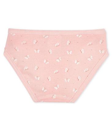 Unterhose für kleine Mädchen rosa Minois / weiss Marshmallow