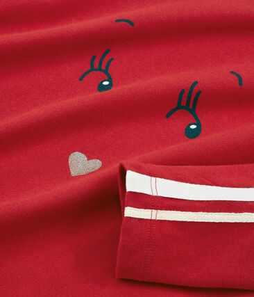 Langärmeliges T-Shirt rot Terkuit