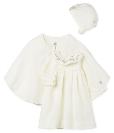 3-Teiliges ensemble baby-festtagskleidung mädchen aus leinen