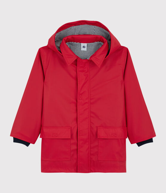Klassische Kinder-Regenjacke für Mädchen rot Terkuit