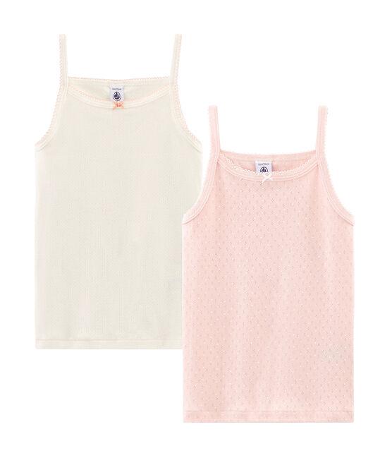 Duo Trägerhemden für kleine Mädchen lot .