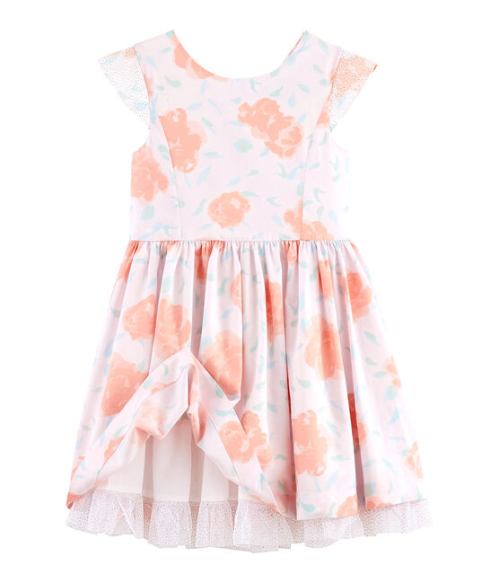 Kinder-Festtagskleid für Mädchen rosa Vienne / weiss Multico