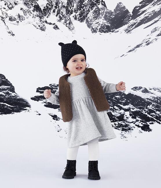 Baby-Mütze unisex mit Fleecefutter blau Smoking / weiss Marshmallow