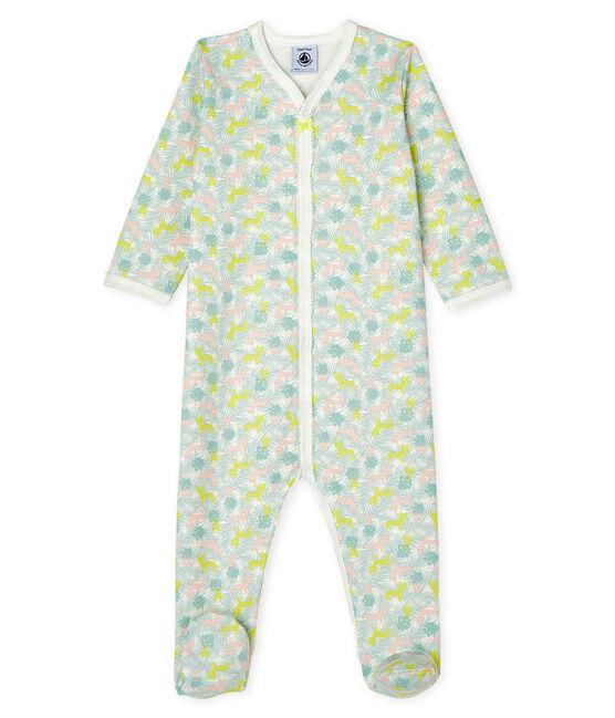 Baby-Strampler aus Molton für Mädchen weiss Marshmallow / weiss Multico