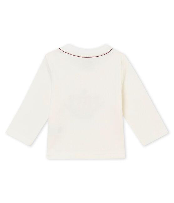 Baby Jungen T-Shirt weiss Marshmallow / rot Terkuit