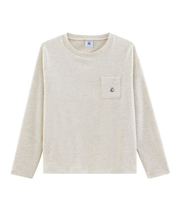 Langärmeliges Kinder-T-Shirt Jungen grau Montelimar Chine
