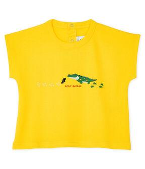 Kurzärmeliges Baby-T-Shirt für Jungen gelb Shine