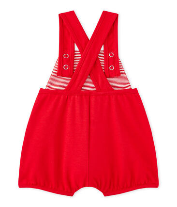 Kurze Baby-Mädchen-Latzhose aus schwerem Jersey