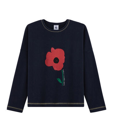 T-Shirt mit Siebdruck für Mädchen