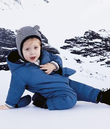 Kapuzenmütze für Babys, unisex blau Smoking / weiss Marshmallow