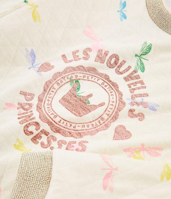 Kinder-Sweatshirt für Mädchen beige Coquille / weiss Multico