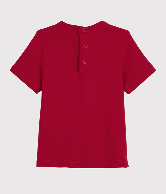 Kurzärmliges Baby-T-Shirt für Mädchen rot Terkuit