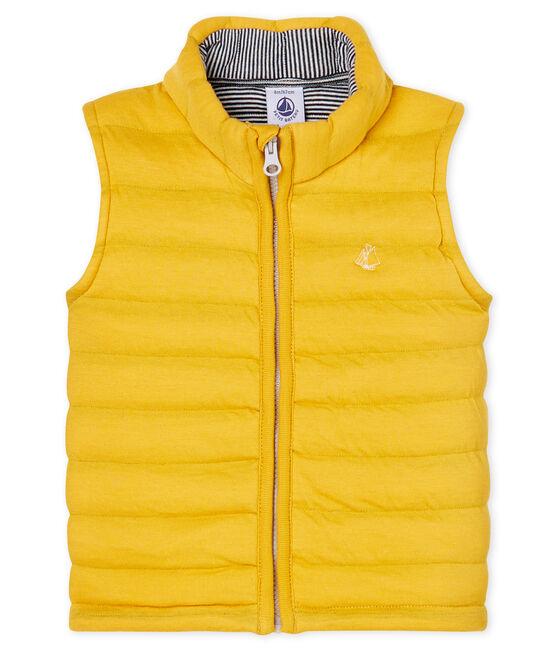 Ärmellose Baby-Jacke aus gestepptem Doppeljersey, Unisex gelb Boudor