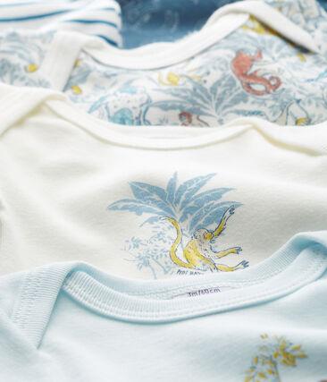 5er-Set langärmelige Baby-Bodys aus Baumwolle für Jungen