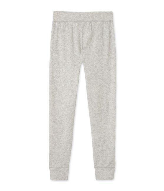 Melierte Damen-Unterhose aus extrafeinem, gedoppeltem Jersey grau Beluga Chine