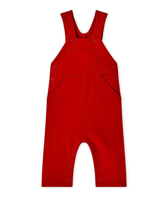 Baby-Jungen-Latzhose aus Molton rot Terkuit