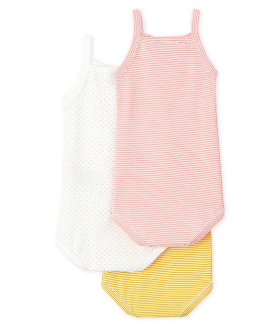 3er-Set Baby-Trägerbodys für Mädchen in Pastellfarben lot .