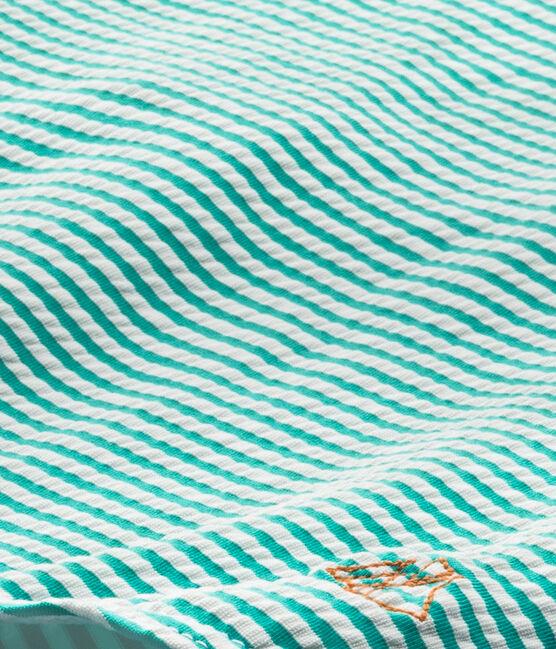 Mädchen-Badeanzug grün Flag / weiss Lait