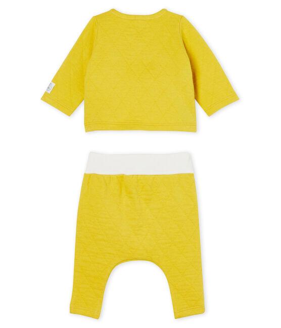 2-teiliges Baby-Set aus gestepptem Doppeljersey gelb Ble