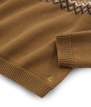 Kinder-Pullover für Mädchen braun Brindille / weiss Multico