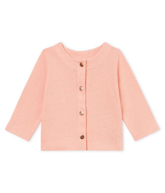 Baby-cardigan aus baumwolle/leinen mädchen rosa Rosako