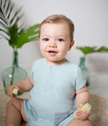 Baby-kurzoverall jungen aus baumwolle/leinen