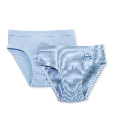 Set mit zwei ringelgestreiften Jungen Unterhosen lot .