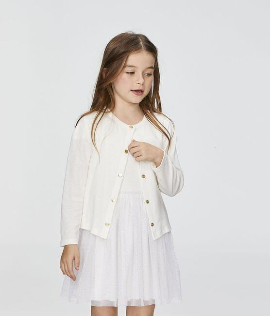 Kinder-Cardigan für Mädchen weiss Marshmallow
