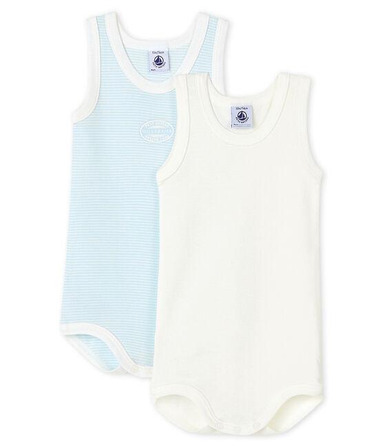 2er-Set ärmellose Baby-Bodys für Jungen lot .