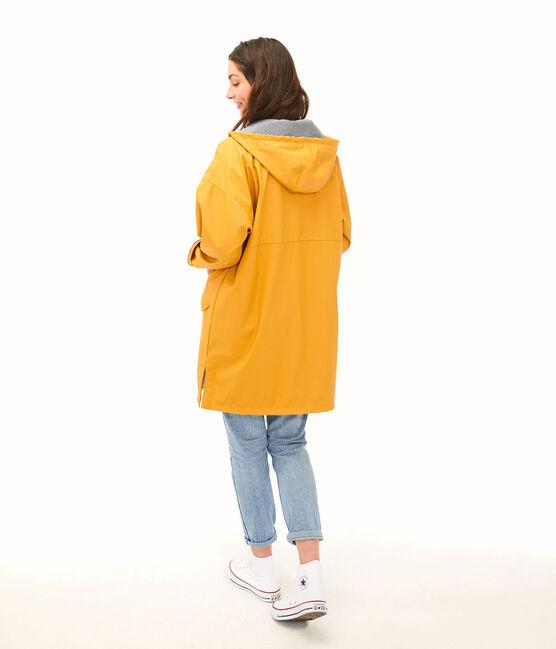 Lange Regenjacke Unisex gelb Boudor