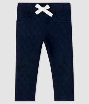 Baby-Hose aus Doppeljersey für Jungen blau Smoking