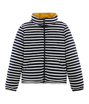 Wendbare Damen-Jacke beige Coquille / blau Smoking