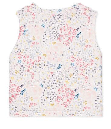 Ärmellose wendbare Baby-Jacke für Mädchen weiss Marshmallow / weiss Multico