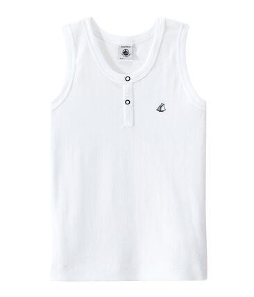 Jungen-Trägerhemd mit Druckknöpfen am Ausschnitt