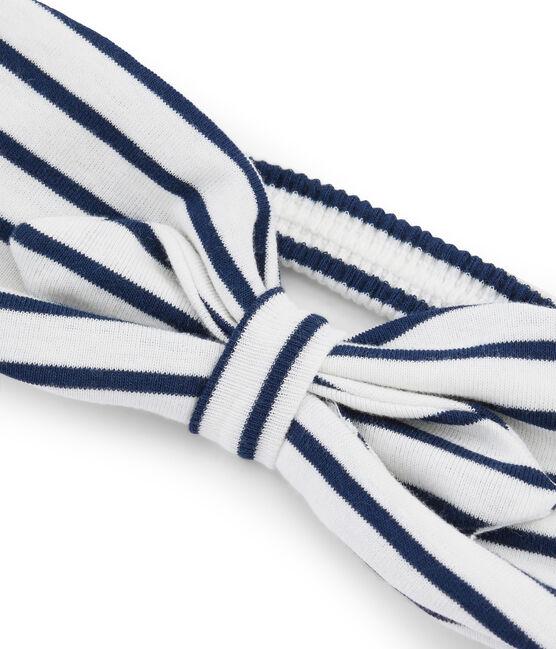 Haarband Mädchen weiss Marshmallow / blau Smoking