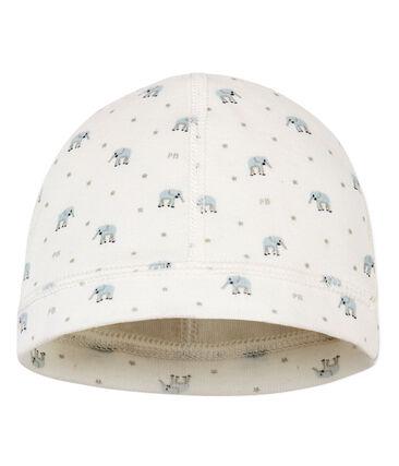 Gemusterte baby-mütze für neugeborene unisex