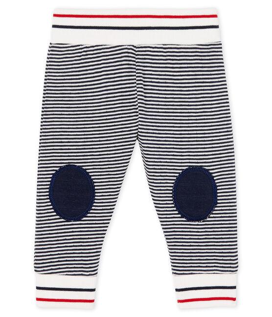 Baby-Hose aus Doppeljersey blau Smoking / weiss Marshmallow