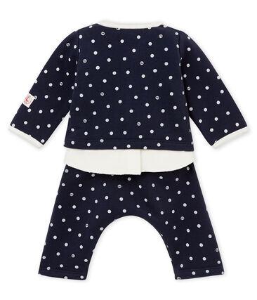 Dreiteiliges Baby MädchenEnsemble mit Punkten