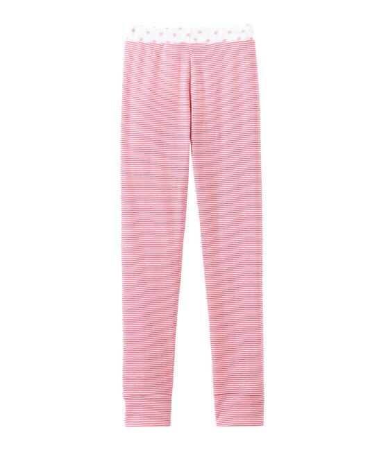 Mädchen Schlafanzughose rosa Cheek / weiss Marshmallow