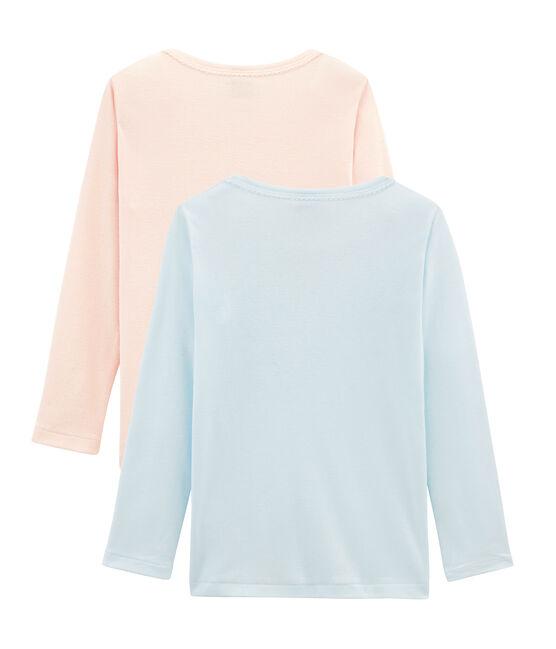 Duo langärmelige T-Shirts für kleine Mädchen lot .