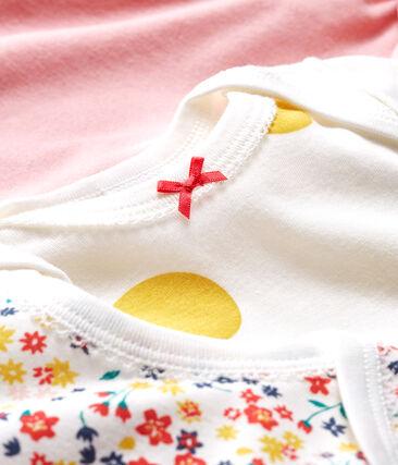 Trio langärmelige Baby-Bodys für Mädchen lot .