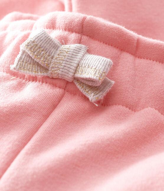 Babyhose aus Samtstrick für Mädchen rosa Charme